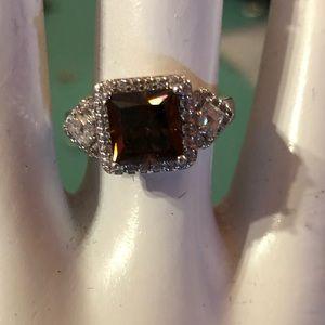 Precious gem CZ ring